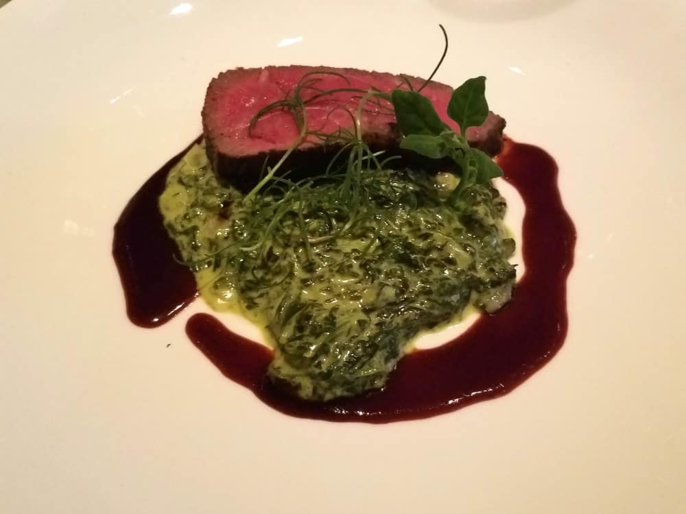 Seminole Casino Coconut Creek New York Strip and Creamed Spinach NYY Steak