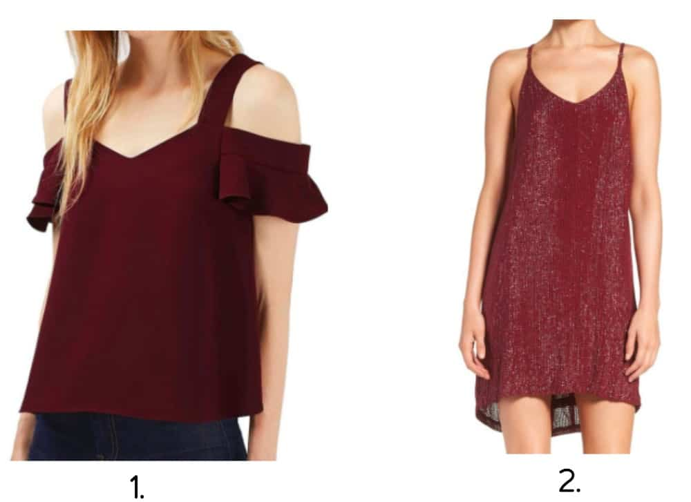 Holiday Trends Burgundy