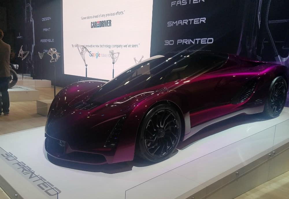 CES 2017 3D Printed Car