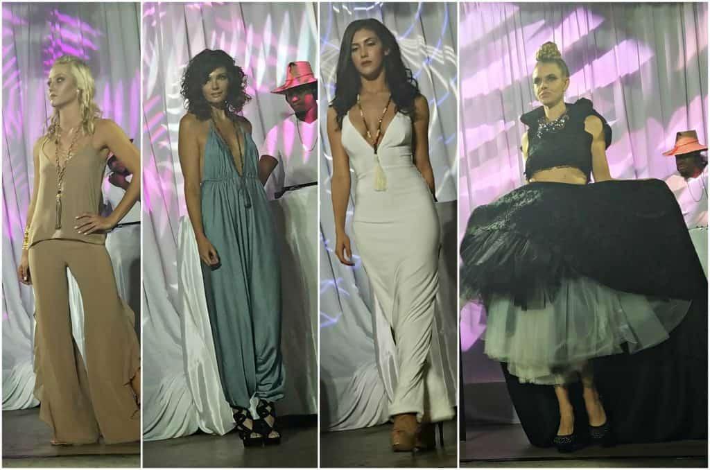 Delray Fashion Week White Party Collage