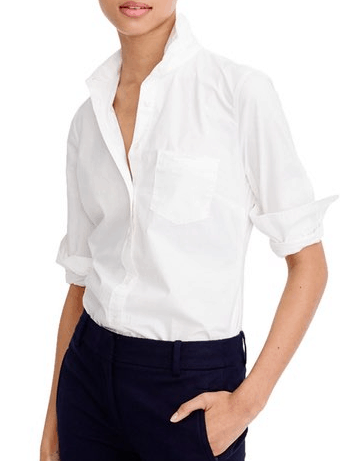 Business Casual White Button-down