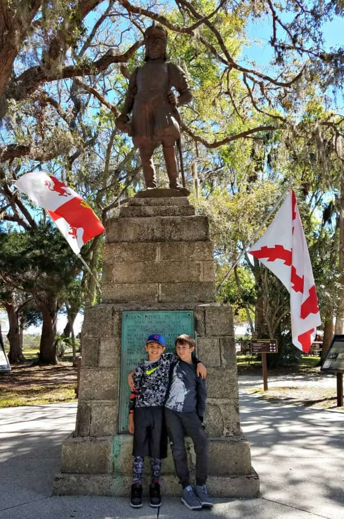 Family Friendly St Augustine - Fountain of Youth Ponce de Leon Statue