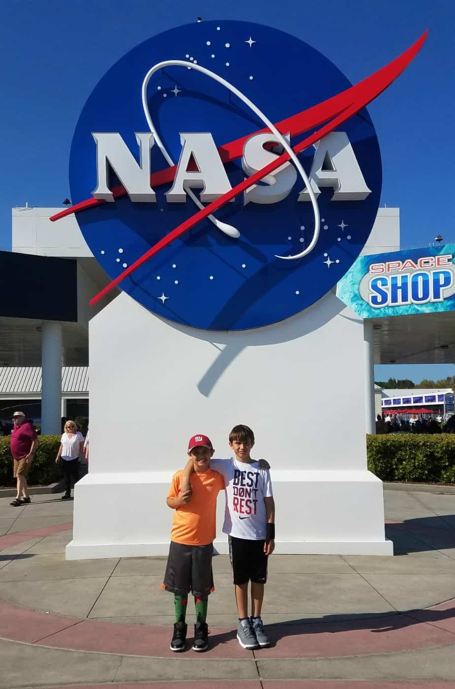 Kennedy Space Center NASA Meatball sign