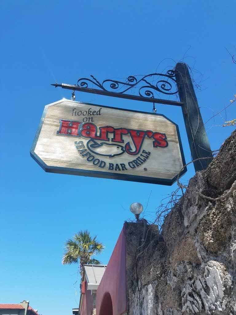 St. Augustine Restaurants - Harry's sign