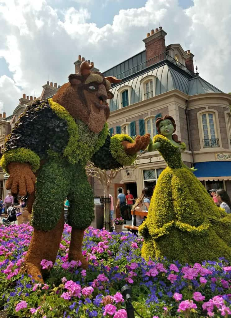 Epcot Beauty and the Beast Topiary
