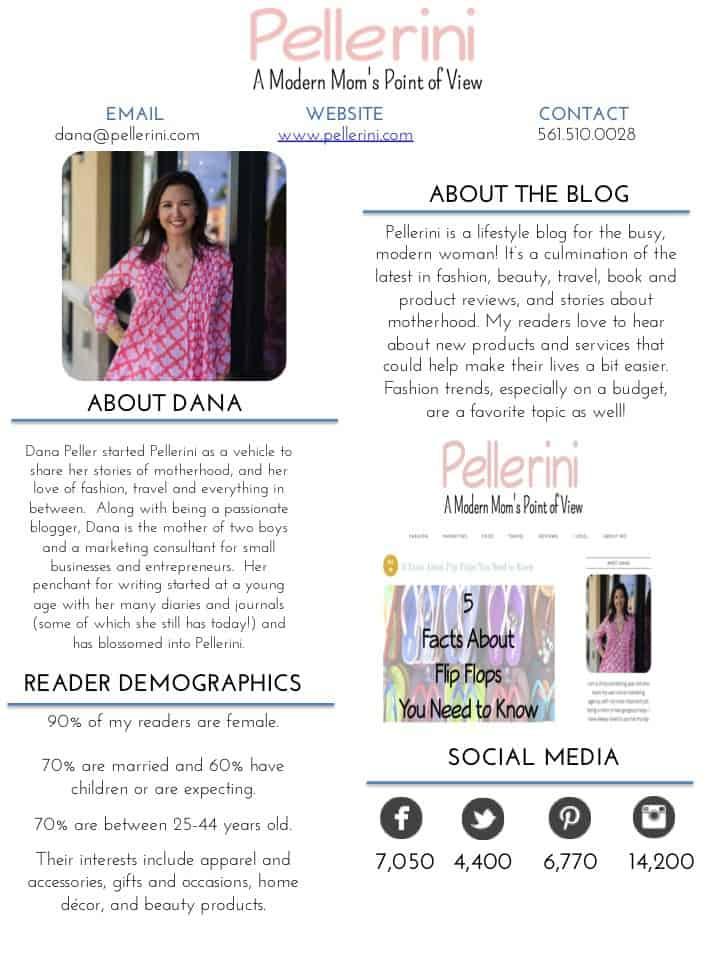 Pellerini Media Kit Page 1