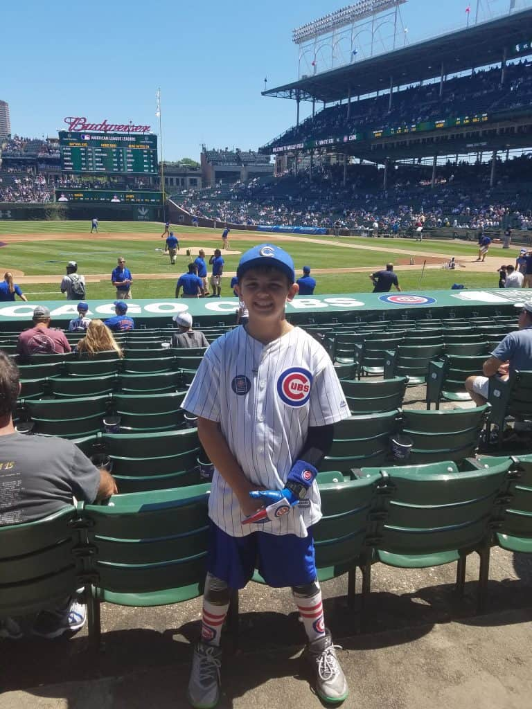 Wrigley Field Chicago Family Vacation Pre Game Photo of the Cubs fan