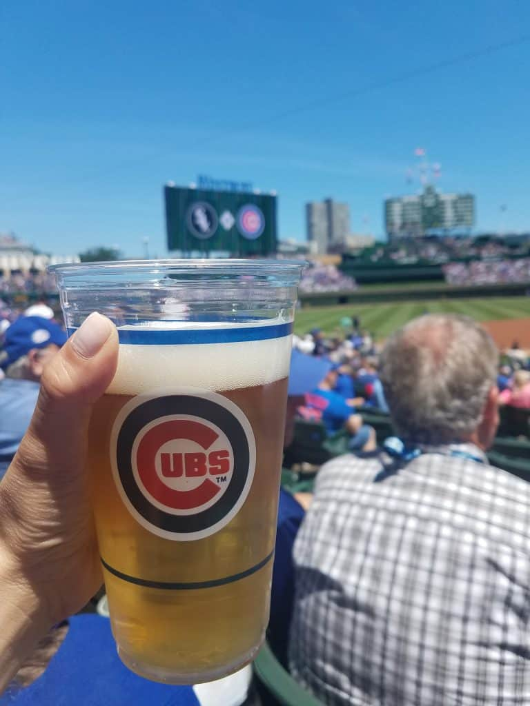 Wrigley Field Chicago Family Vacation Beer
