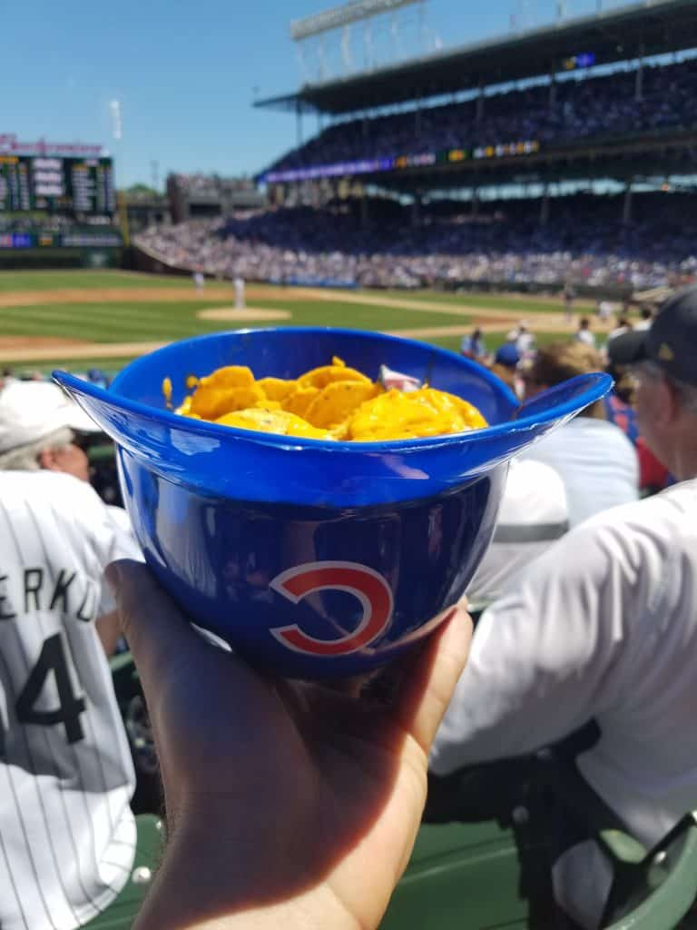 Wrigley Field Chicago Family Vacation nachos with cheese