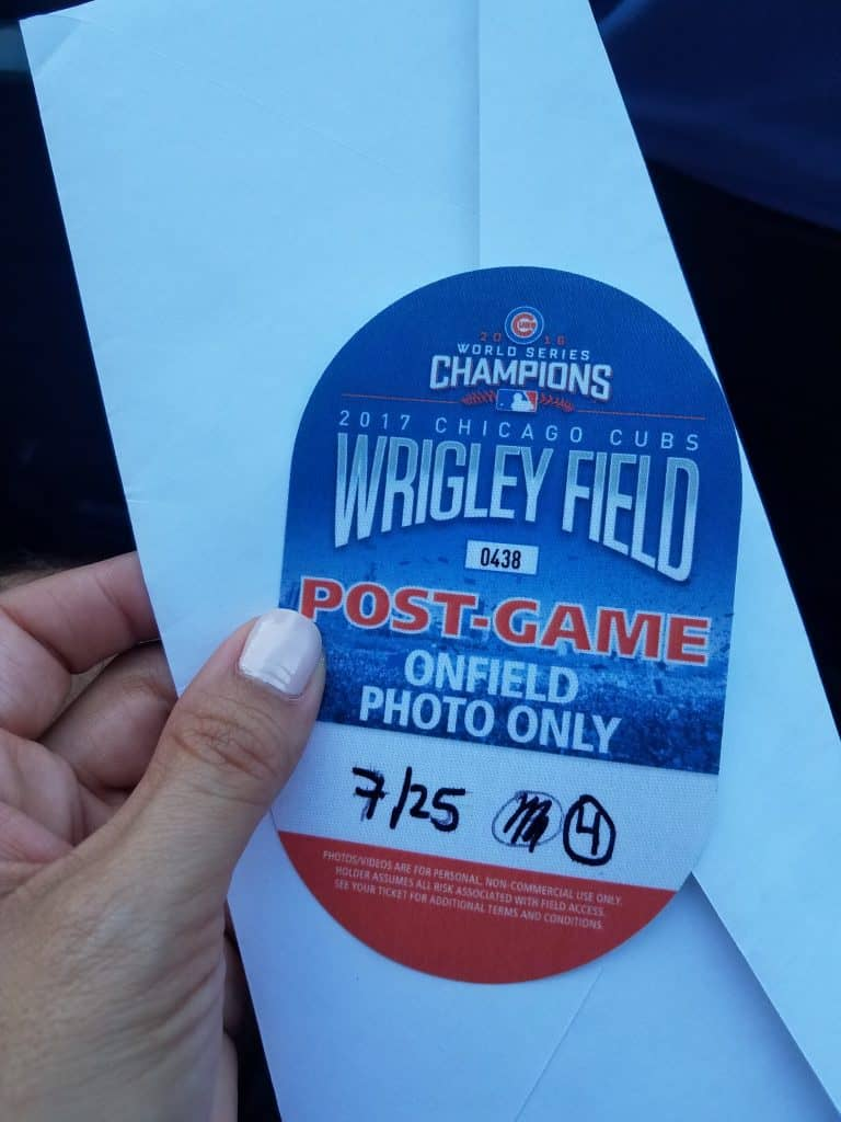 Wrigley Field Chicago Family Vacation Post Game Special Pass
