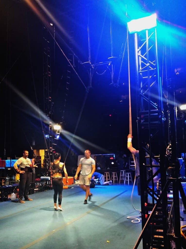 Cirque du Soleil performers practicing