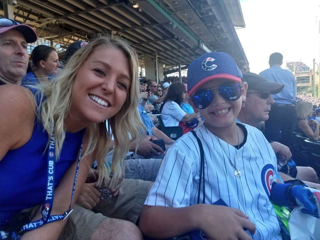 Wrigley Field Chicago Family Vacation Jordan and Gabriel