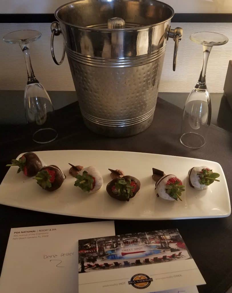 PGA National Resort and Spa Prosecco and Strawberries