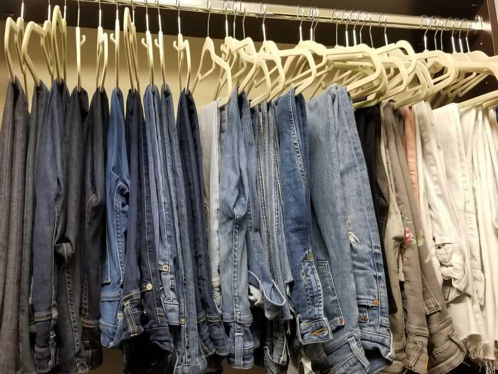 organize your closet denim jeans