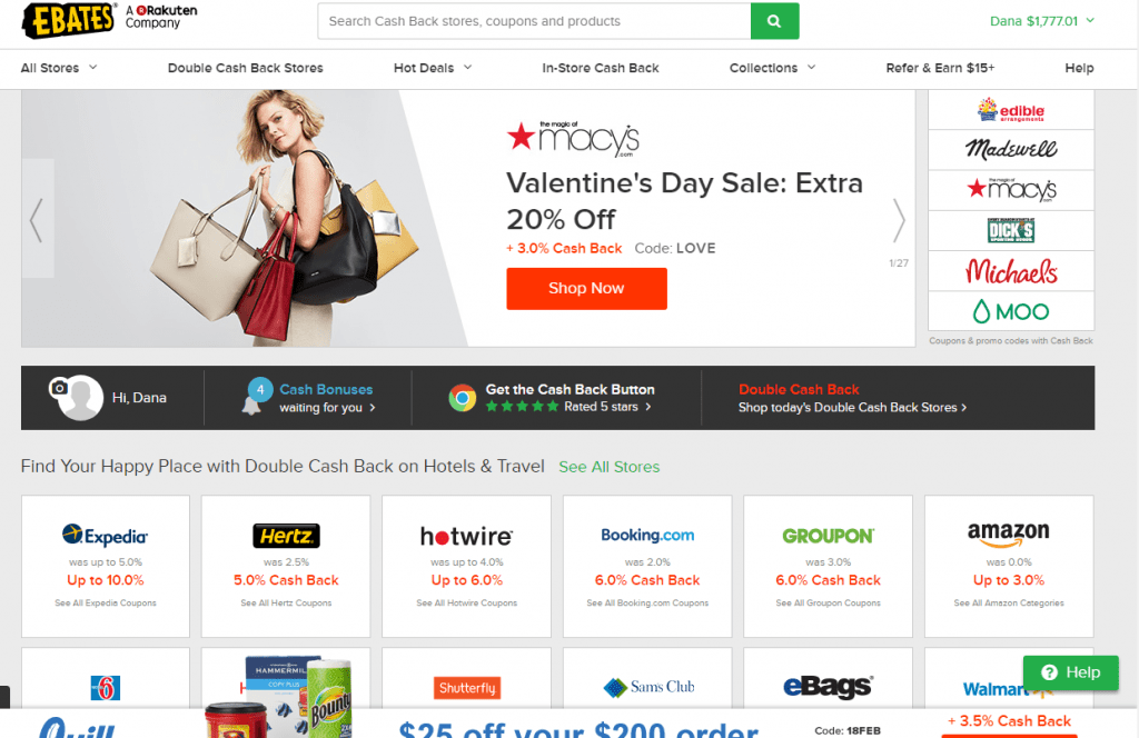 ebates screenshot 7 ways to earn extra money