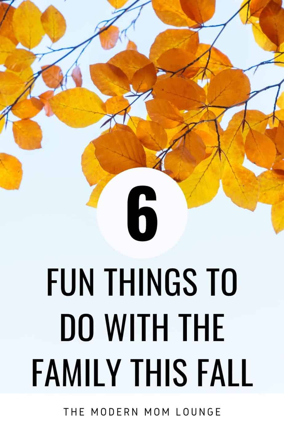 Fun things to do with the family this fall