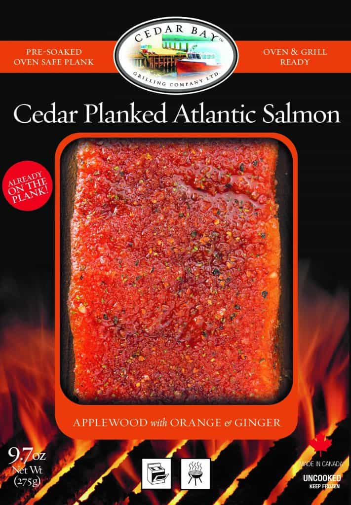 Cedar Bay Grilling Atlantic Salmon on Plank