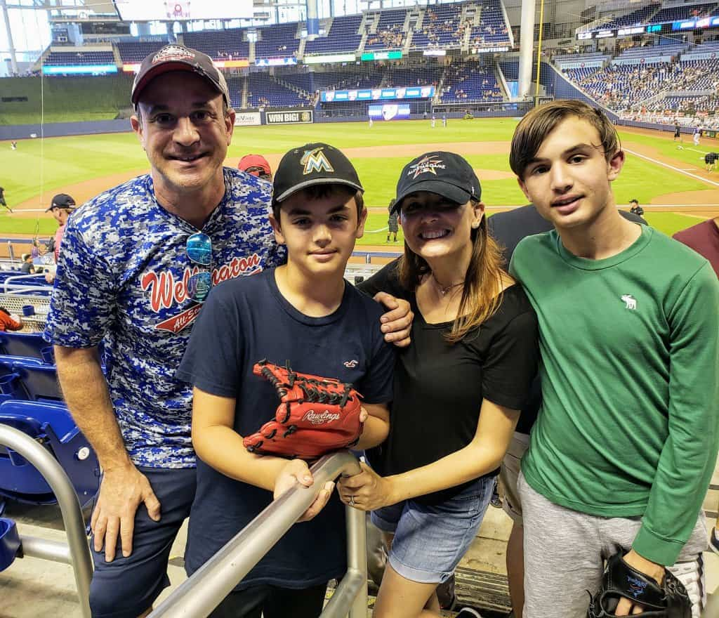 Miami Marlins with the Family