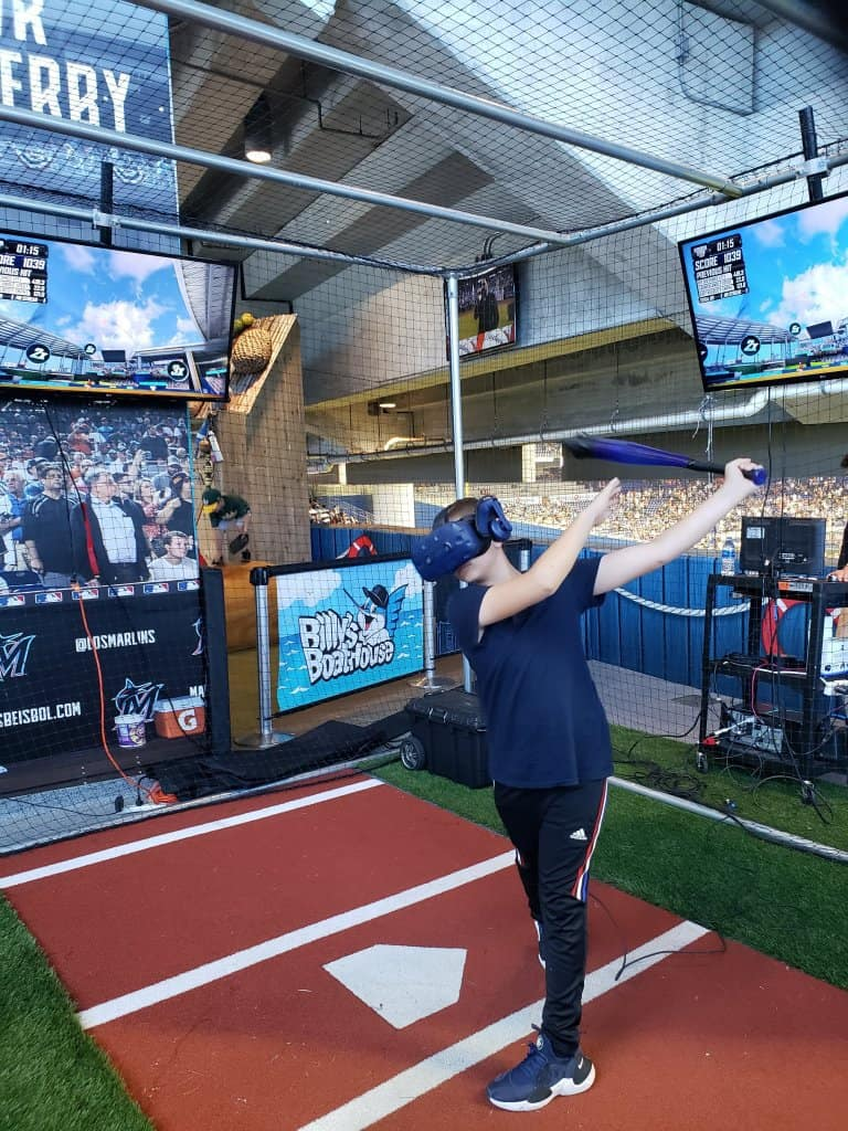 Virtual Reality Homerun Derby at Marlins Park