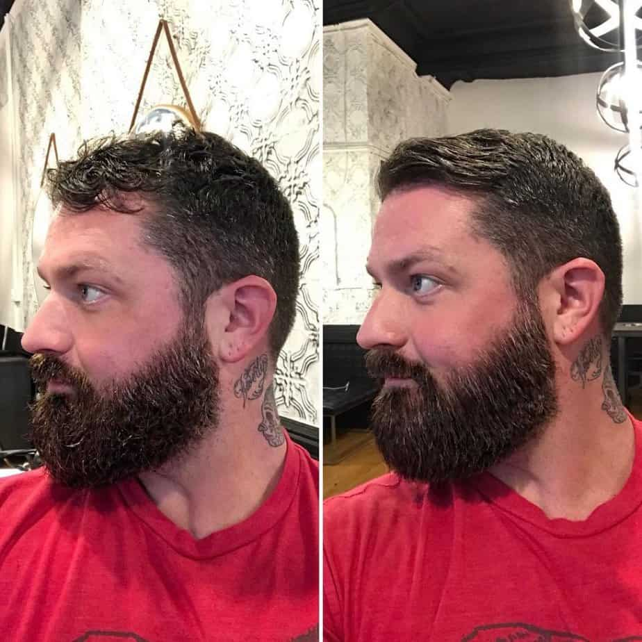 before and after photo using the MASC kuschelbar