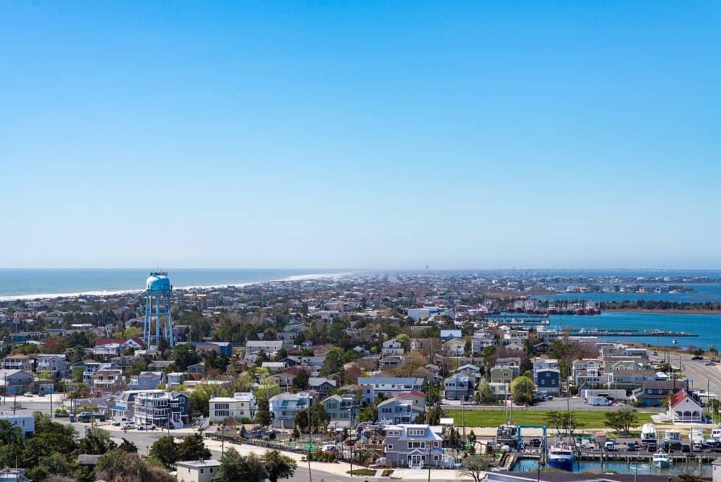 Long Beach Island New Jersey aerial
