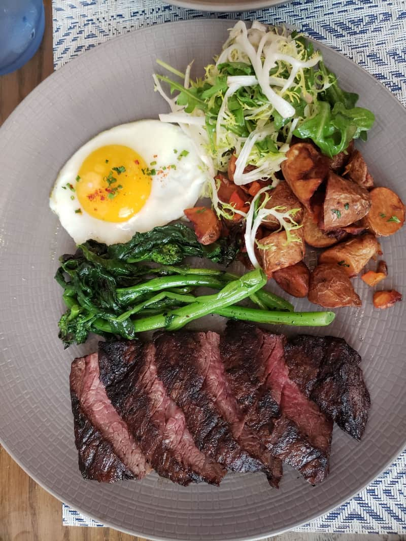 Boulud Sud Brunch Grilled Steak and Egg