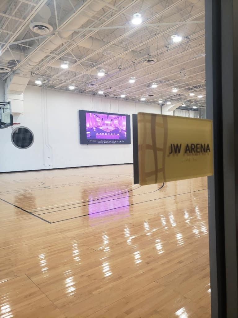 JW Marriott Marquis JW Arena basketball court
