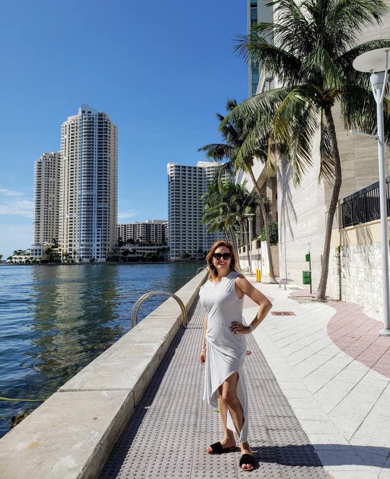 fall fashion trends outside the InterContinental in Miami