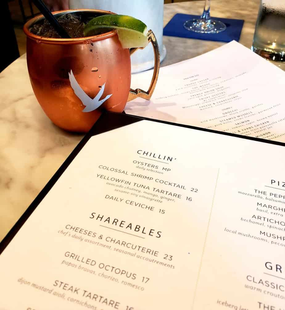 drink and menu