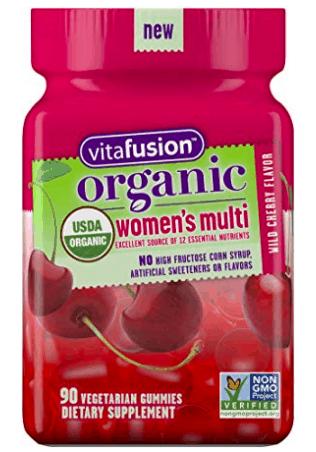 vitafusion organic women's multi