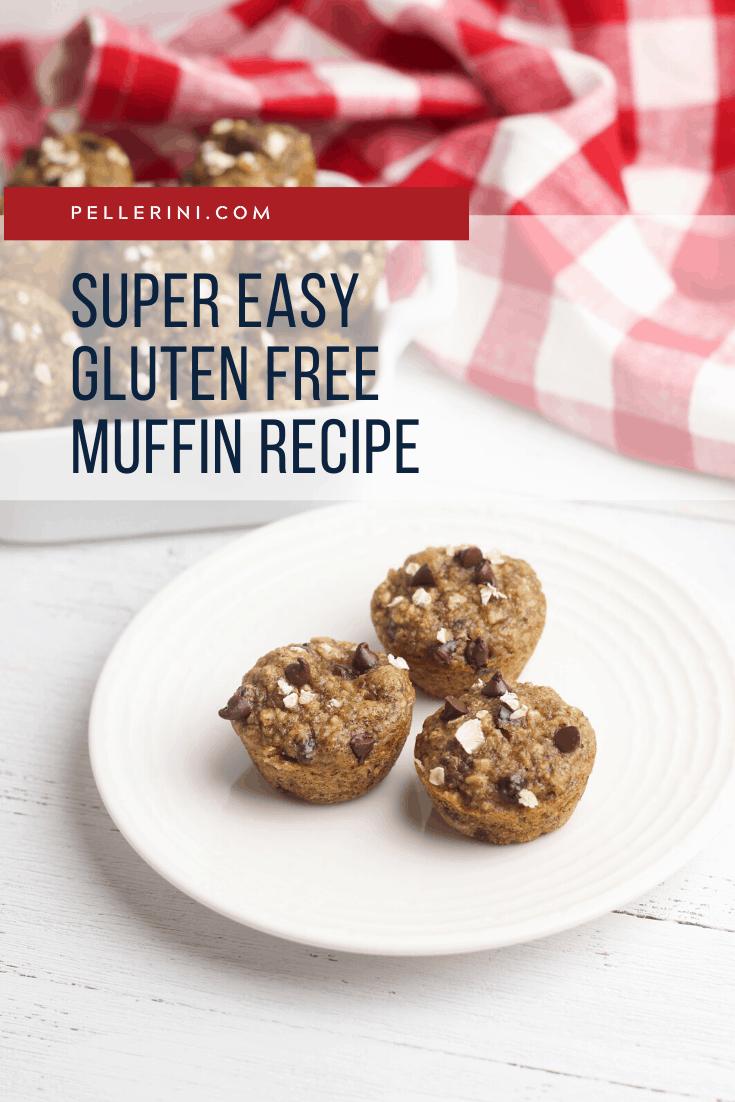 Super Easy Gluten Free Peanut Butter Banana Oat Muffin Recipe