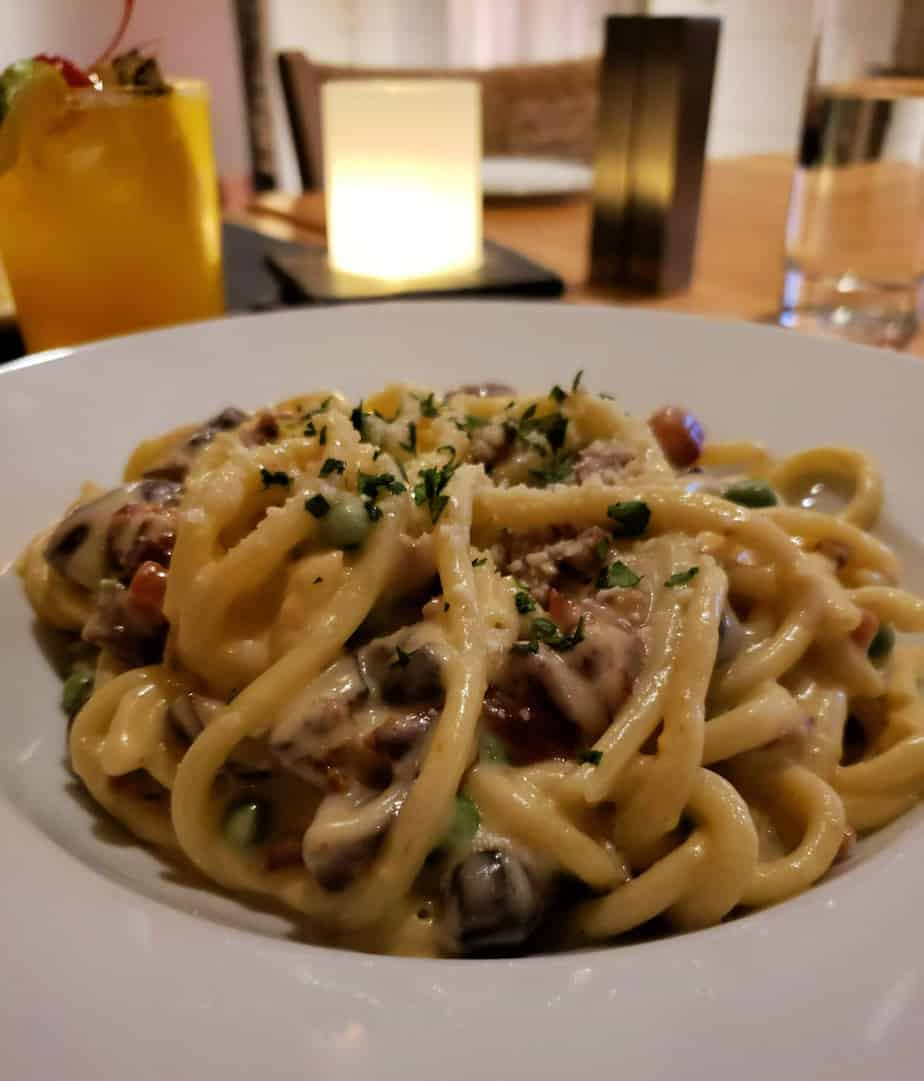 bucatini carbonara drift kitchen and bar