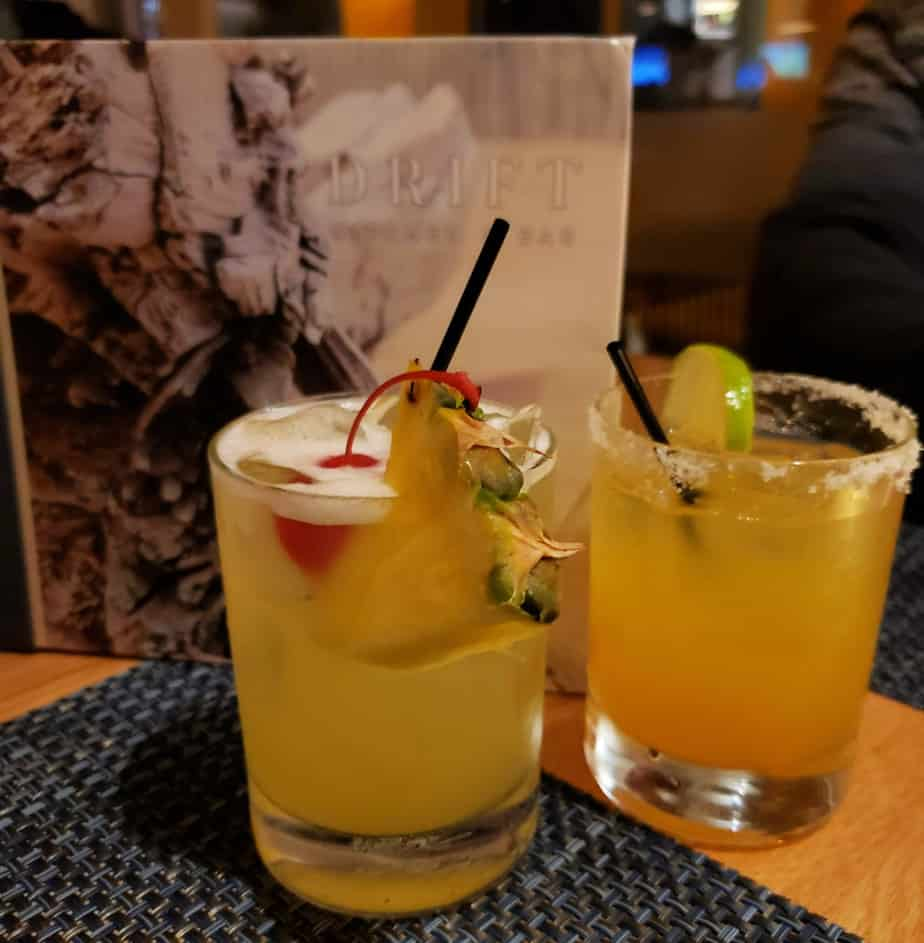 drinks at drift kitchen and bar