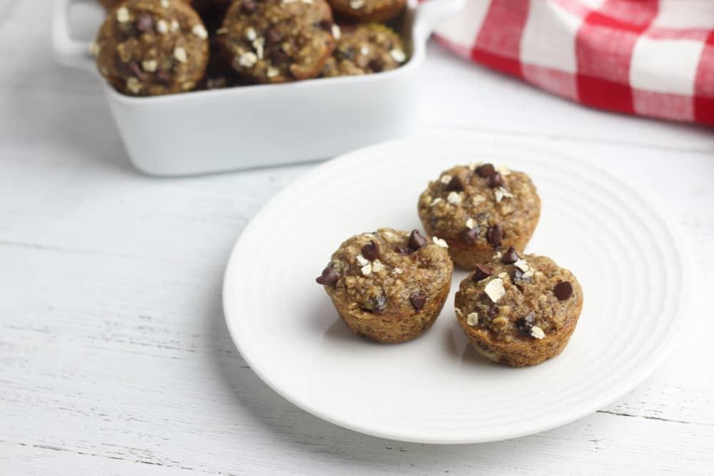 gluten free peanut butter banana oat muffins