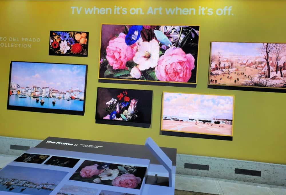 Samsung TV turned Framed Art