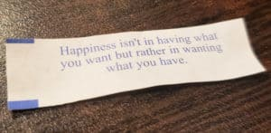 ways to cultivate happiness - fortune cookie