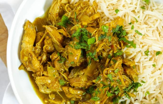 Slow cooker chicken curry small