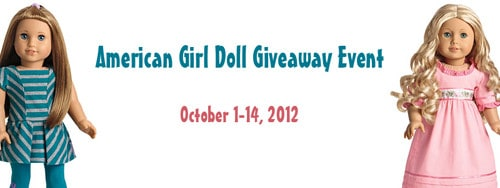 American Girl Doll Giveaway!