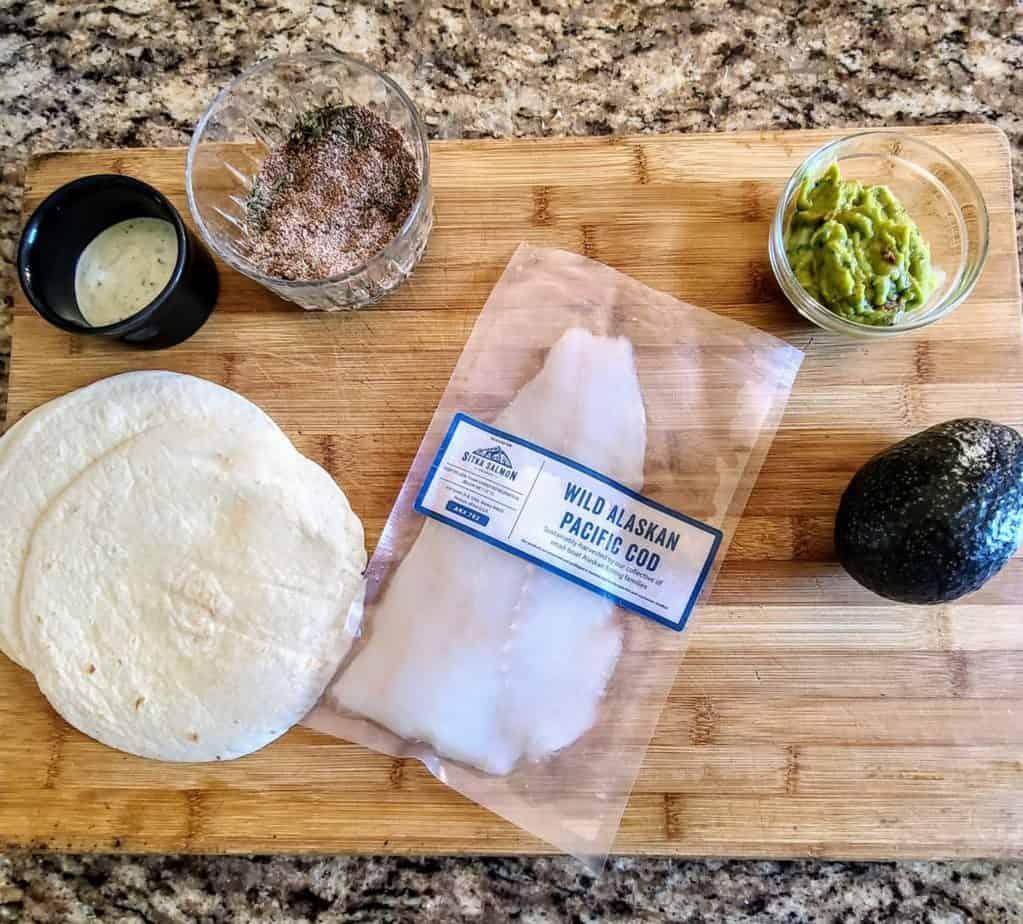 Fish Tacos Recipe ingredients