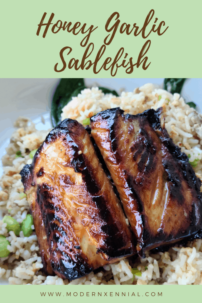 Honey Garlic Marinated Sablefish