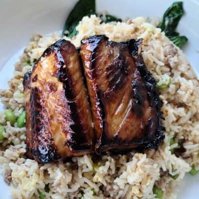 Honey Garlic Marinated Sablefish Dinner