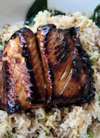 Honey Garlic Marinated Sablefish (Black Cod)