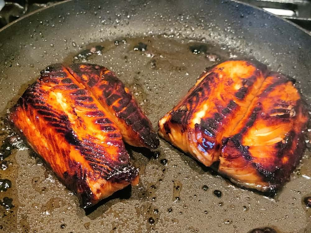 Honey Garlic Marinated Sablefish Pan Searing 2