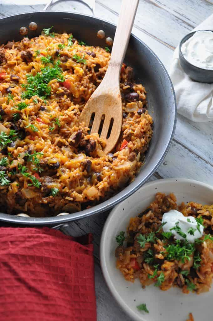 hi-res Cheesy Ground Beef skillet - vertical