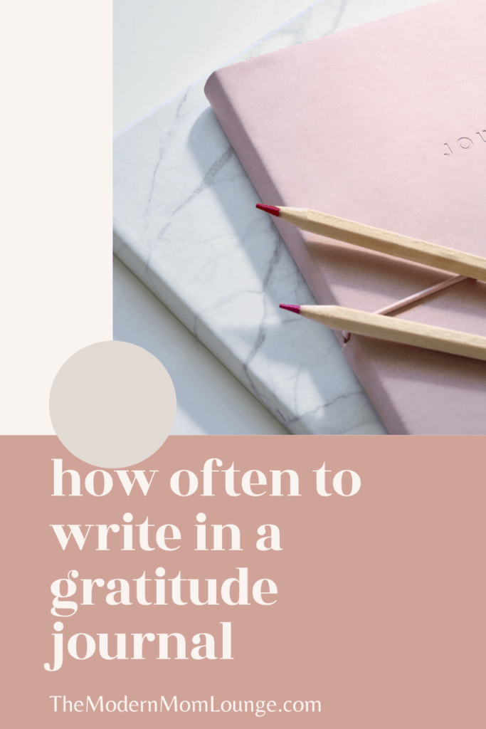how often to write in a gratitude journal