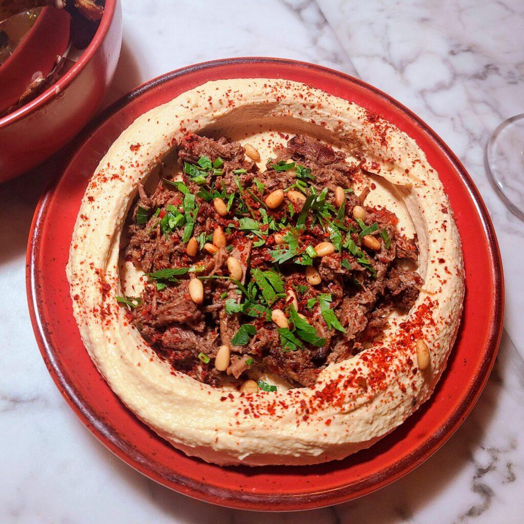 Amar Mediterranean Bistro Hummus with Lamb